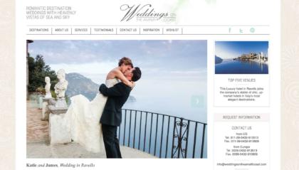 Weddings on the Amalfi Coast website