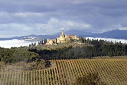 Castle near Montalcino in Tuscany