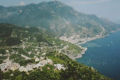 Panorama of Ravello on the Amalfi Coast