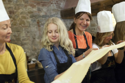 Cooking Classes for Guests of Tuscany Wedding
